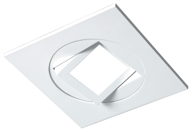 4 white square multi adjustable recessed led downlight 3000k dqr4ma11203kwh