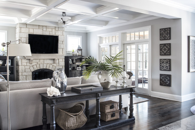 Beautiful Gray Traditional Living Room Other By