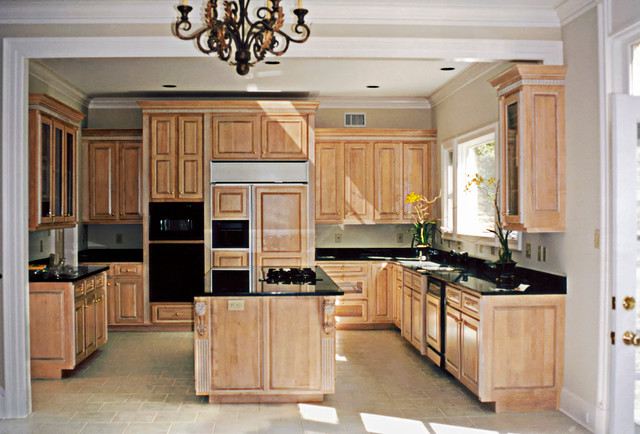 Variety of Materials Selected - Maple Cabinets with Black ... on Granite With Maple Cabinets  id=49091