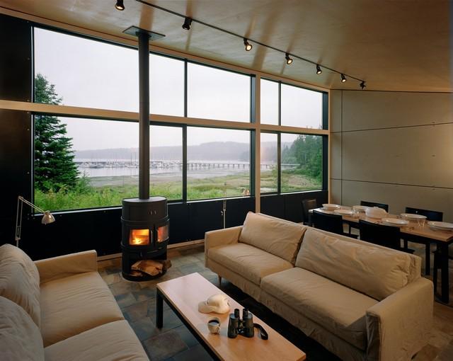 Port Hadlock Cabin Modern Living Room Seattle By