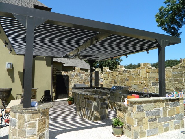 Arcadia Louvered Roof - Installed Units - Modern - Patio ... on Arcadia Backyard Designs id=62288