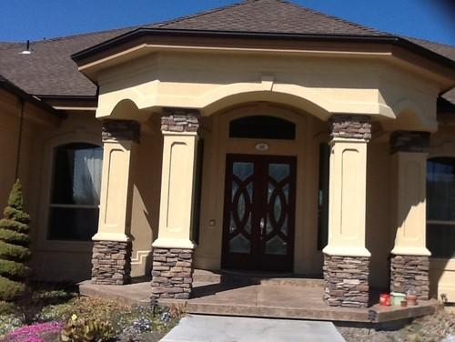 Front door, trim, garage door paint and accent ideas on Garage Door Paint Ideas  id=93791
