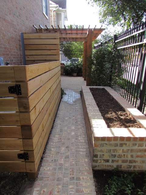 High function in a small side yard! Pergola, raised bed ... on Small Side Yard Ideas  id=79741