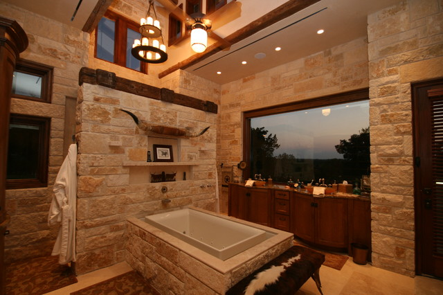flat rock creek ranch - rustic - bathroom - dallas - by john