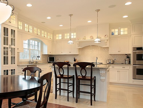 to soffit or not to soffit? that is the kitchen cabinet question