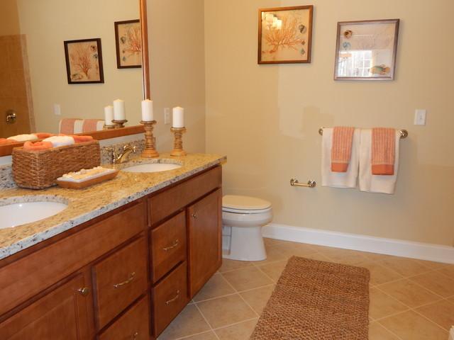 Dorwood Model Home Master Bathroom - Beach Style ... on Model Bathroom Ideas  id=64101