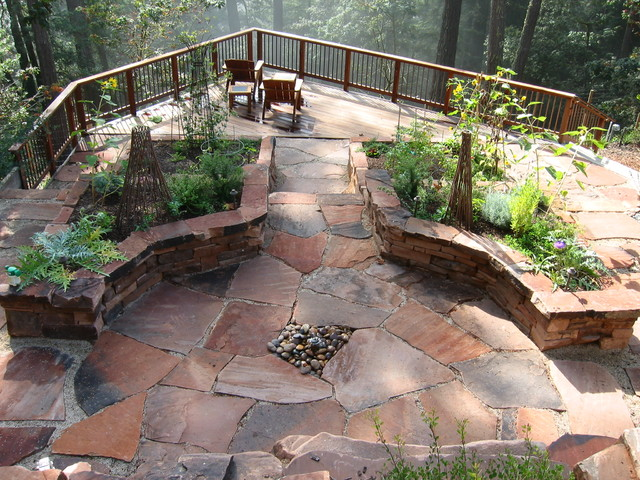 Woodside Mountain Home - Mediterranean - Landscape - San ... on Mountain Backyard Ideas id=97041
