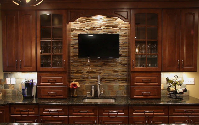 Basement Wet Bar - Traditional - Basement - DC Metro - by ... on Small Wet Bar In Basement  id=88444