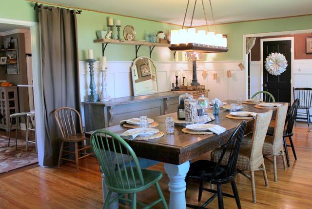 My Houzz Vintage Farmhouse Style Farmhouse Dining