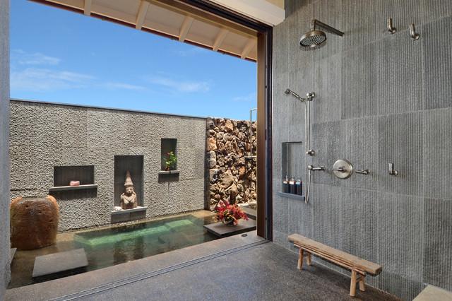 Bali Inspired Modern Contemporary Bathroom