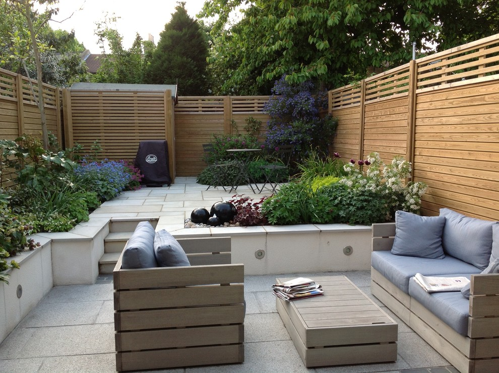 Split-level Courtyard Garden - Contemporary - Patio ... on Split Garden Ideas id=23883