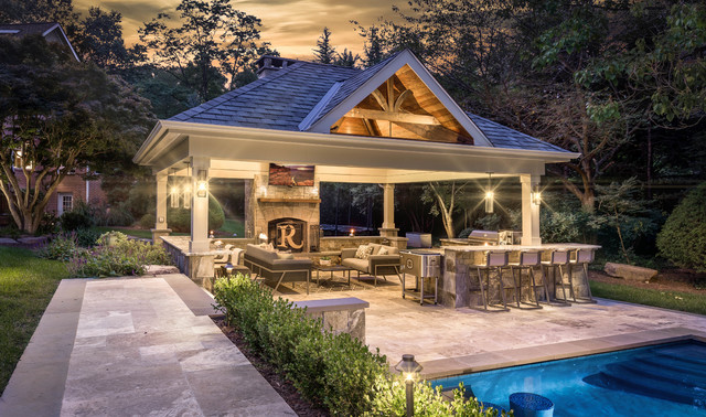 Traditional Style Outdoor Living Space - Traditional ... on Garden Living Space id=79589
