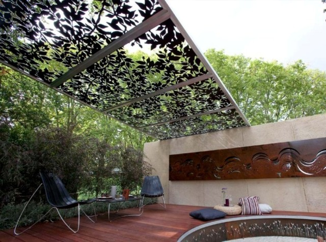 Laser cut metal PERGOLAS eclectic-patio