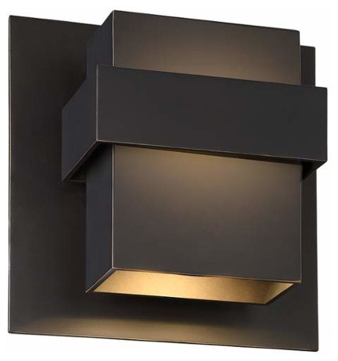 Modern Forms WS-W30509 Pandora 1 Light LED Indoor/Outdoor ... on Contemporary Outdoor Wall Sconces id=68015