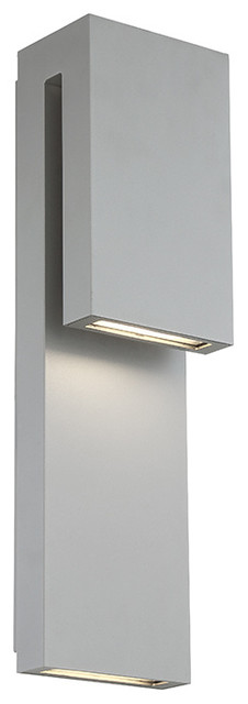 Modern Forms Double Down LED Outdoor Wall Sconce - Modern ... on Modern Outdoor Wall Sconce id=91223