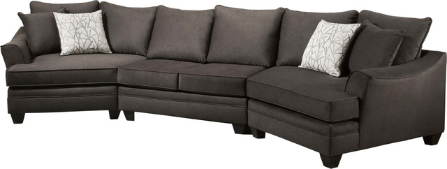 cupertino cuddler sectional flannel seal
