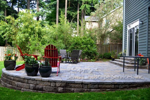 Fraser Patio Project - Traditional - Patio - Portland - by ... on Patio On A Slope Ideas id=92405