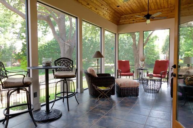 Screened/Enclosed Patio - Traditional - Porch - Dallas ... on Inclosed Patio Ideas  id=33948