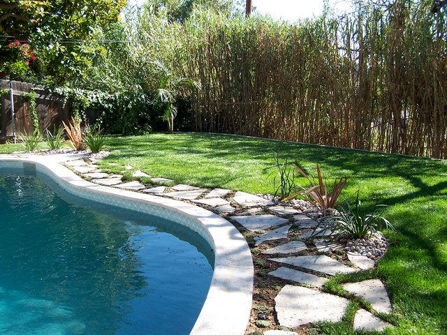 Pool Patio Conversion - Backyard - Traditional - Pool ... on Backyard Pool Landscape Designs id=30977
