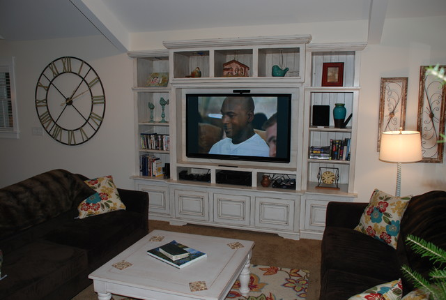 Built In Wall Unit - Traditional - Living Room - Detroit ... on Living Room Wall Units id=23422