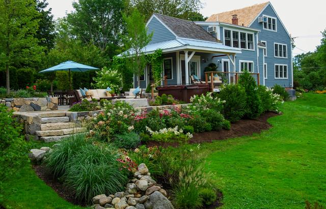 Country Farm House - Farmhouse - Landscape - Boston - by a ... on Farmhouse Yard Ideas id=12971