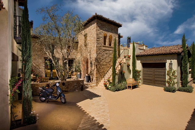 A Tuscan Farmhouse 1 Mediterranean Exterior Orange