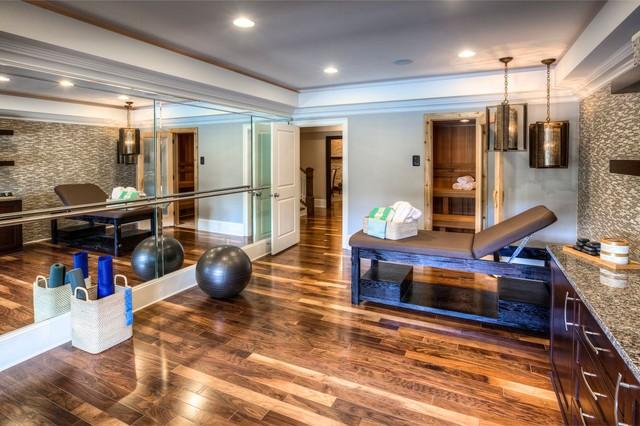 Ashton Woods Atlanta Basements transitional-home-gym