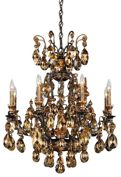 Schonbek Lighting 3771 76tk Renaissance Heirloom Bronze 9 Light Chandelier Victorian Chandeliers