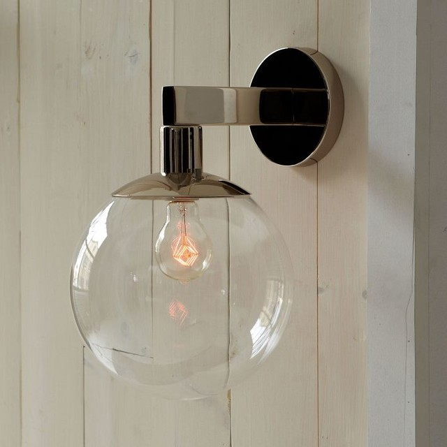 Globe Outdoor Sconce - Modern - Outdoor Wall Lights And ... on Modern Outdoor Sconce Lights id=43829