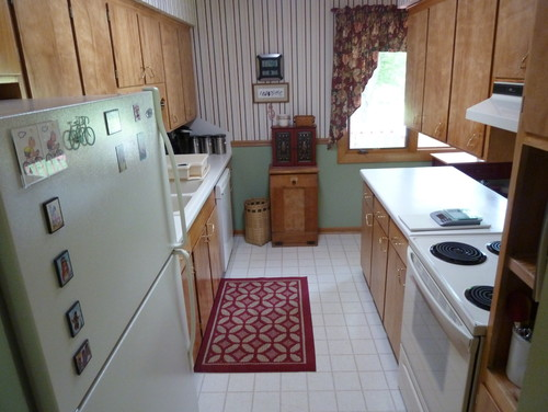 1960's Small Galley Kitchen Remodeled: BEFORE And AFTER