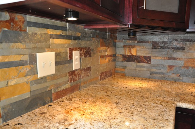 Granite Countertops and Tile Backsplash Ideas - Eclectic ... on Countertops Backsplash Ideas  id=89484