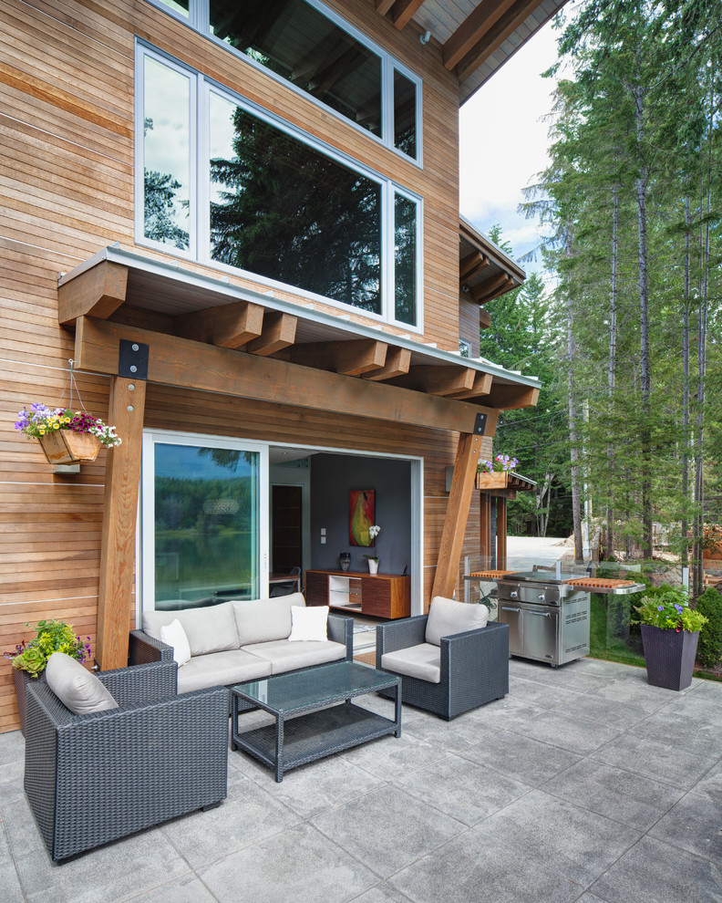Lakefront Custom Home - Contemporary - Patio - Vancouver ... on Lakefront Patio Ideas id=28635