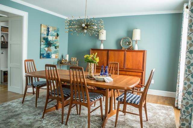 Mid Century Modern Dining Room Transitional Dining