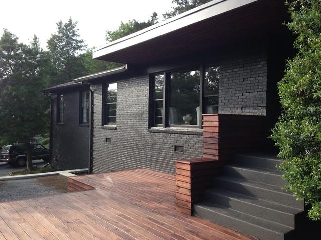 Painted Brick Exterior - Modern - Exterior - Nashville ... on Brick House Painting Ideas  id=59314
