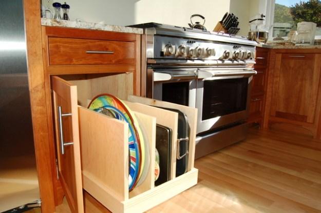 pullout tray storage - traditional - kitchen - burlington -
