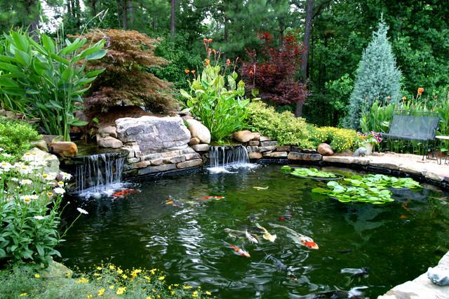 Higher's Koi Pond - Traditional - Landscape - Atlanta - by ... on Landscape Pond Design id=69638