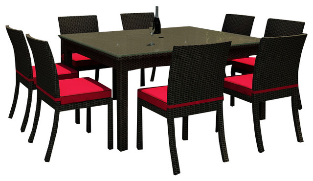 Barbados 9 Piece Square Patio Dining Set