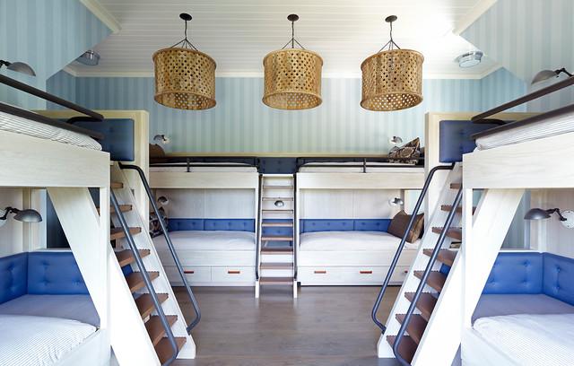 Hampton Beach House contemporary-bedroom