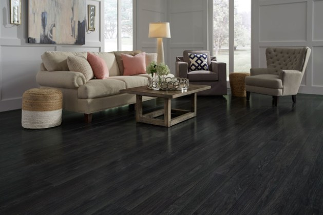 St  James Collection by Dream Home   12mm Rock Creek Charcoal     St  James Collection by Dream Home   12mm Rock Creek Charcoal Laminate  Flooring contemporary