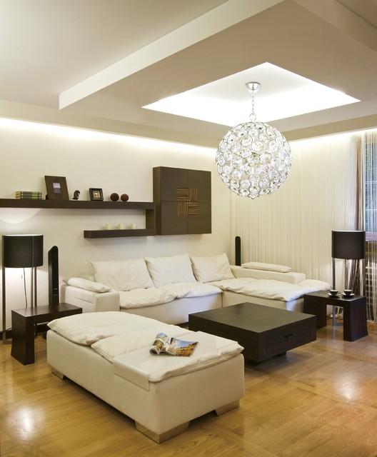 Brilliant Round Crystal Pendant Ball Chandelier Modern Contemporary Lighting Living Room