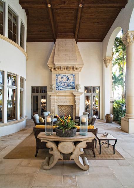 Elegant Patio - Tropical - Patio - Miami - by Marble of ... on Houzz Backyard Patios  id=95578