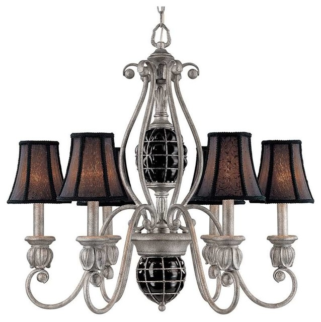Classic Lighting Catturatto Captured Glass Chandelier Argento Traditional Chandeliers
