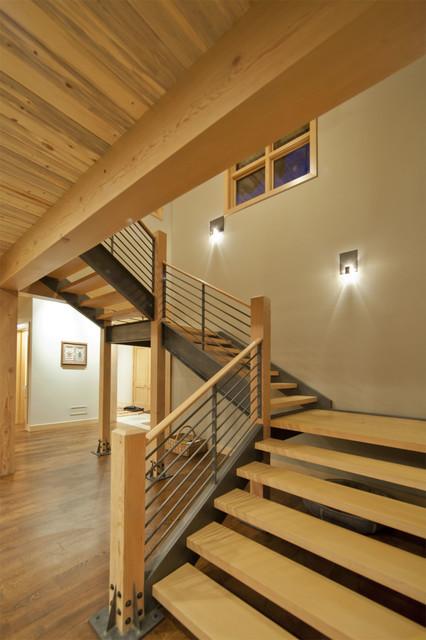 Nourth Routt Retreat Contemporary Staircase Denver
