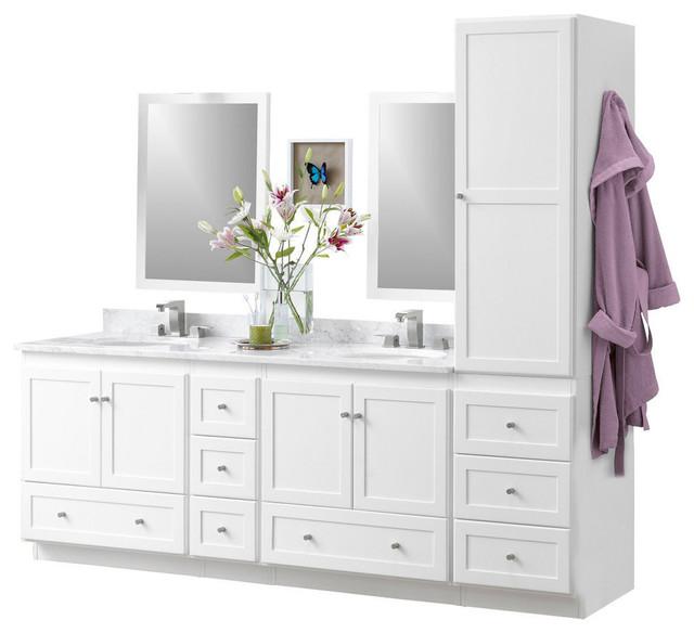 Design Element Huntington Contemporary Bathroom Vanity Set Free