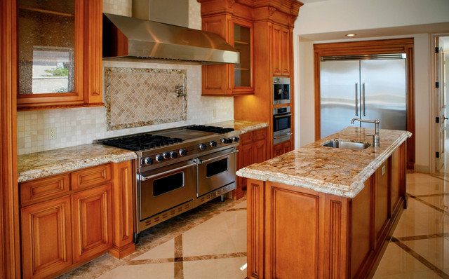 Colonial Cream Granite Countertops Traditional Kitchen Orange County By MSI
