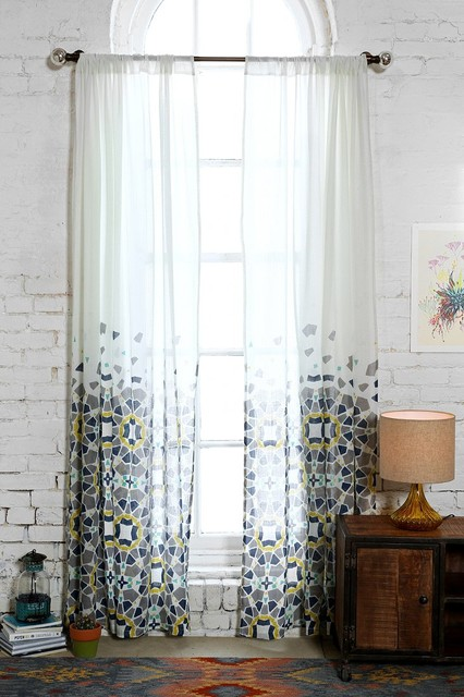 Magical Thinking Moroccan Tile Curtain Blue Contemporary Curtains By Urban Outfitters
