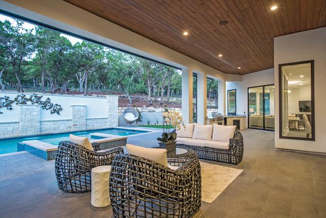 Luxury Home Tour 2015 - Contemporary - Patio - Austin - by ... on Luxury Backyard Patios id=32957