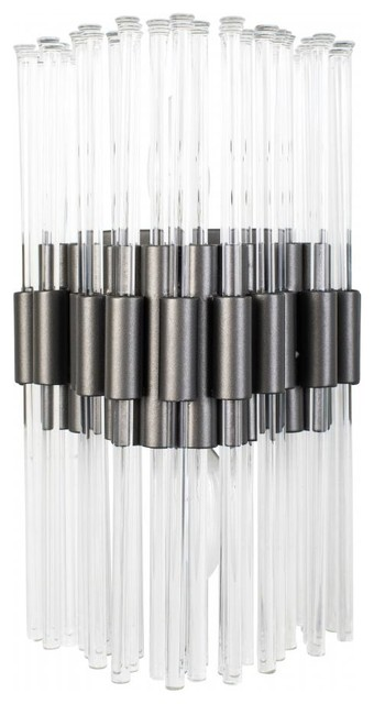 Varaluz Astrid 2-Lt Sconce - New Bronze - Contemporary ... on Ultra Modern Wall Sconces id=78515