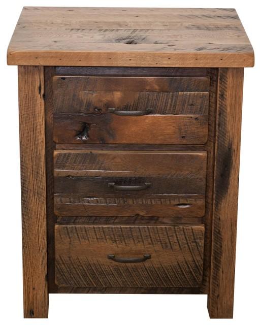 foxfield reclaimed wood nightstand