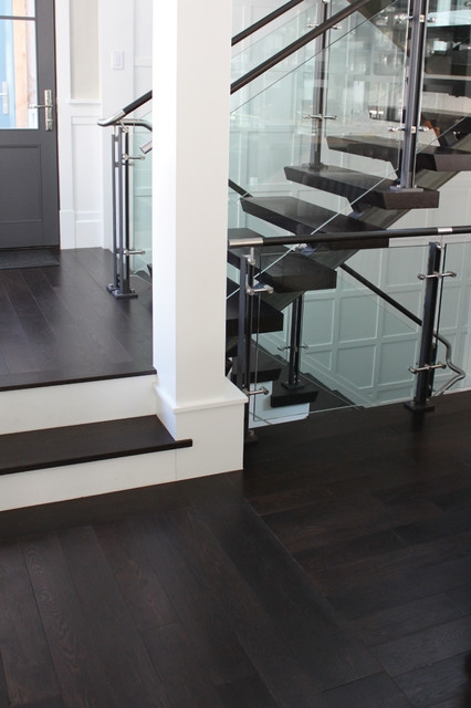Prefinished Engineered Oak Flooring Stair Treads Eclectic   Engineered Wood Stair Treads   Hickory   Platform   Finished   Engineered Hardwood   Luxury Vinyl